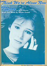 TIFFANY-I THINK WE'RE ALONE NOW-PIANO/VOCAL/GUITAR CHORDS SHEET MUSIC RARE 1987!