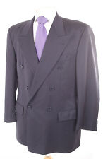 HUGO BOSS NAVY SUPER 100'S WOOL MEN'S BLAZER SUIT JACKET 40S DRY-CLEANED