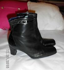 Lotus (Flexisole) Real Leather/Patent ankle Boots SIZE: UK 7 EU 40