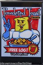 Powdered Toast Crunch Cereal - Fridge Magnet. Ren & Stimpy Powdered Toast Man