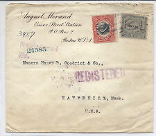 Canal Zone Cover from Boston to Hazen B. Goodrich, Shoes & Civil War - 1912*