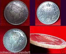 "1870 Canada Fifty Cents Absolutely Beautiful ""ONE OF THE BEST"" 50 Cents LOOK"