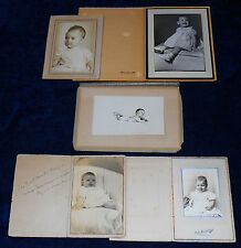 5-PC LOT VINTAGE PHOTOS SOME IN FOLDERS CUTE BABY CHILDREN 1 ID OH WI 1940-50s