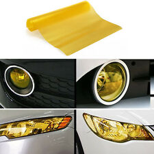 Yellow Car Taillight Fog Head Light Headlight Tint Film Wrap Sheet 60 x 30cm