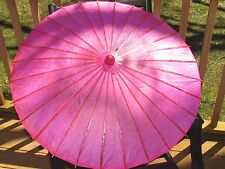 "PRETTY CHINESE RICE PAPER 32"" PARASOL UMBRELLA NOS"