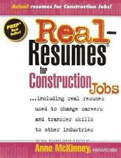 Real Resumes for Construction Jobs by Anne McKinney (2012, Paperback)