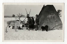 PHOTO - Carte Photo - NORWAY - LAPONIE - Tente Renne Campement - Vers 1950