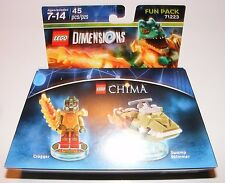 Lego Dimensions Fun Pack - Legends of Chima Cragger and Swamp Skimmer 71223