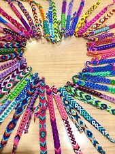 FRIENDSHIP BRACELETS Cotton Wholesale Bulk 25 Woven FAIR TRADE GIFTS UK Stock.