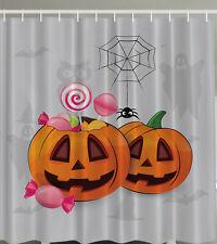"PUMPKINS CANDY SPIDER WEB FUNNY Halloween 70"" Fabric Bathroom Shower Curtain"