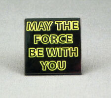 Metal Enamel Pin Badge Brooch Star Wars Starwars SW May The Force Be With You
