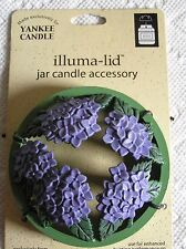 Yankee Candle illuma lid Topper 2003 Hydrangea New RARE Retired Free Shipping