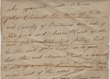 RARE Autograph Manuscript Document Signed 1817 Victor NY Pioneers Ontario County