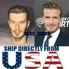 "1/6 David Beckham Custom Head Sculpt For 12"" Hot Toys Male Body - USA SELLER"