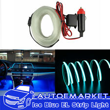 5M ICE BLUE LED EL-Wire Car Interior Lamp Decor Strip Neon Cold light Panel Gap