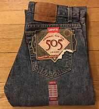 Levis Men's 505 Vintage Deadstock 33x32 Red Tab USA Cone Mills Denim Levi Jeans