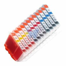 12 COLOR CLI-8 Ink Tank for Canon PIXMA MX700 IP3300 IP3500 CLI8 CLI-8 CMY @