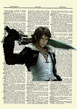 Squall Final Fantasy Dictionary Art Print Poster Picture Game X Character