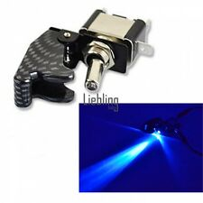 Auto Fibra Di Carbonio LED blu A levetta Interruttore A Dondolo 12V 20A ON OFF