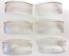 6 X Clear grandes peines flexibles lado 90mm/diapositivas de pelo. hecho en Reino Unido