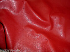 Leather 10 sq ft Bright Red DIVINE top grain Cowhide 2.5oz/1mm PeggySueAlso