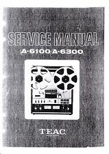 Service Manual-Istruzioni per TEAC a-6100, a-6300