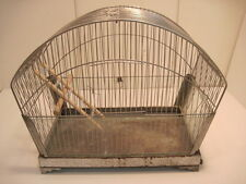 OLD VINTAGE CHROME METAL BIRD CAGE BIRD HOUSES COLLECTIABLE