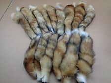 #1 Quality XL Tanned Red Fox Tails/Fur/Crafts/Real Fur Tails/Harley parts/Purse