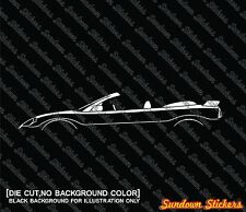 2X Car silhouette stickers - for Mitsubishi Eclipse 3G spyder convertible