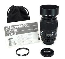NIKON AF MICRO NIKKOR 105mm f2.8D LENS!! EXCELLENT PLUS COND!! 90-DAY WARRANTY!!