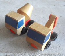 Lot of 2 Vintage 1971 Mattel Small Wood Construction Trucks