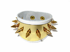 SUICIDE SQUAD HARLEY QUINN WHITE SPIKE CUFF BRACELET COSPLAY COSTUME BEST!!!