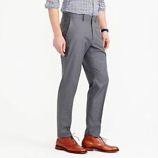 J. CREW Pants 39 31 GRAY Mens FLAT Front TROUSER 28927 Uncuffed COTTON Twill MAN