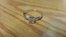 Beautiful Sparkles Princess White Cubic Zirconi Ring Sterling Silver*Size 8*E690