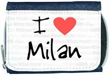 I Love Heart Milan Denim Wallet