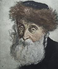 Wilchelm Landsmann Radierung 83/150 Rabbiner.