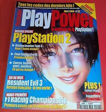 Magazine PlayPower [ n°20 Mars 00] Playstation 1 2 Ps1 Resident Evil 3 *JRF