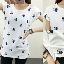 Women Girl  Loose Fashion Cute Mickey Mouse Printed Shirt  Blouse Tops Size XL