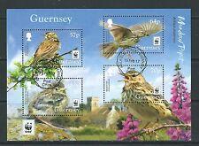 Guernsey 2017 WWF Prado Pipeta hoja fina en miniatura utilizados