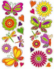 BUTTERFLIES 22 Wall Decals Room Decor BUTTERFLY Stickers FLOWERS GiRlS Nursery