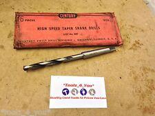 """Century 21/64"""" Morse Taper Shank Drill MT1 HSS Made In US (v)"""