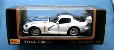 1997 DODGE VIPER GTS-R 1:18 DIE CAST CAR SPECIAL EDITION MAISTO