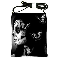 Lowbrow Rockabilly Goth Purse Calavera Sugar Skull Butterfly Tattoo Shoulder Bag