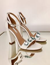 Kurt Geiger Miss KG White Embellished Heeled Sandals Size 6 39 RRP £80 New
