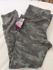 """Ladies """"Rock47"""" Size 34x33, Green Camo, Ultra Soft, Low Rise, Skinny, Knit Jeans"""