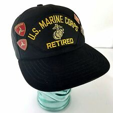 Us Marine Corps Hat Retired USMC Vietnam War Lapel Pins Veteran Vtg USA