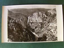 LES GORGES DU VERDON (Alpes du sud) - PHOTO AERIENNE 27 cm x 45 cm LAPIE 1958