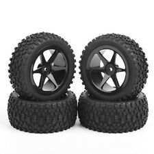 4 Pcs 1:10 Off-Road Front&Rear Tyre Tires Wheel Rim 25036+27011 For Buggy Car RC