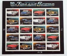 NEW America On The Move   50's Fins And Chrome  US Postal Service   Stamp Sheet