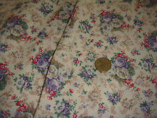"fabric crafts  1 yd,100% cotton lawn cream floral 54"" wide(10yds available)"